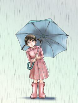パパの大きな傘