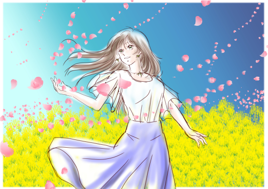 桜と菜の花と。