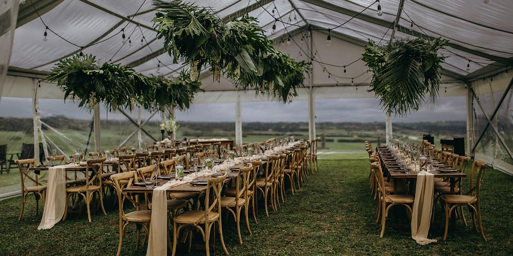 Banquet sous tente