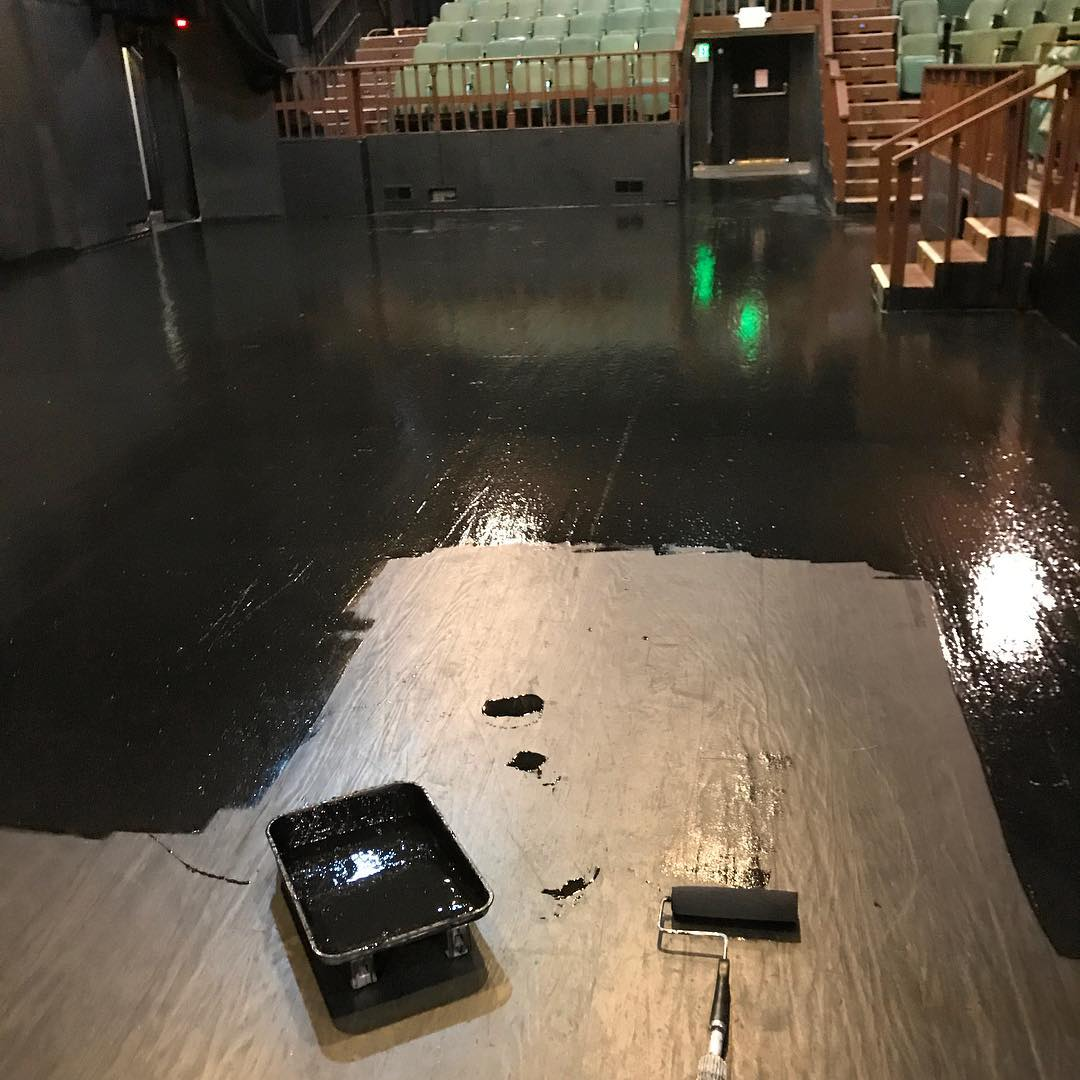Repainting the Stage Floor