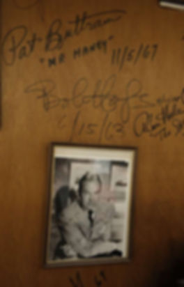 Bob Hope signature on the Cow Palace Wall