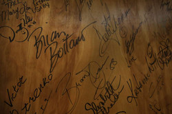 box office wall of famous signatures