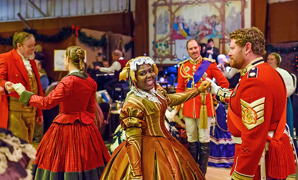 Queen Victoria's court at the Cow Palace's annual Great Dickens Christmas Fair