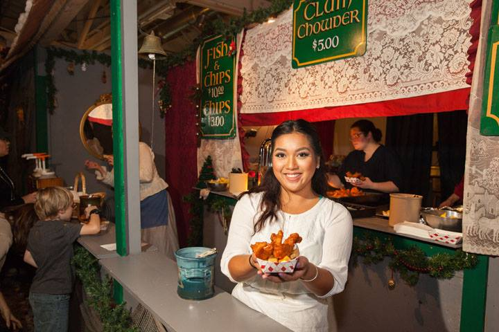 A food vendor at a themed event