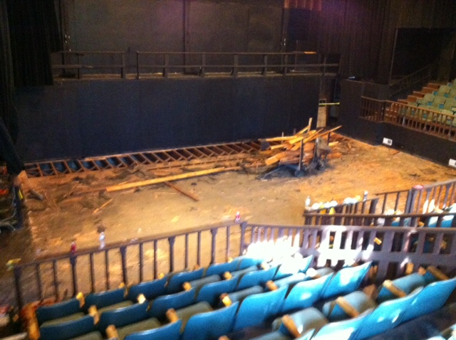 Build out of the new stage floor