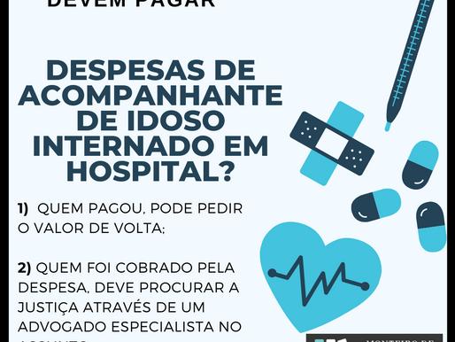 Plano de saúde deve custear despesas de acompanhante de idoso internado em hospital?