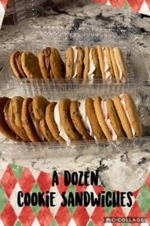 Chocolate Chip Cookie Sandwiches (dz) - Mandy Gee