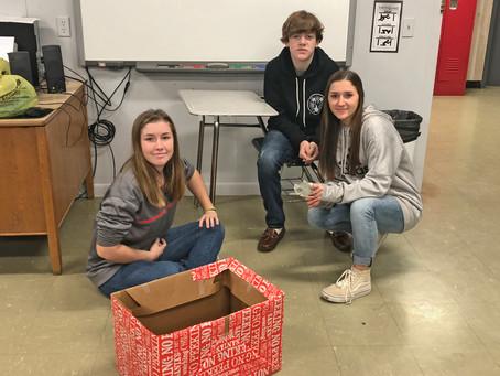 Jr. Master Wellness Volunteers Prepare for Food Drive