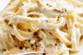 Chicken Fettucine Alfredo - Farrah Kate