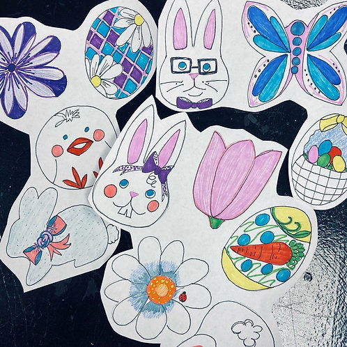Artist Decorated Easter Cookies (1dz) - Amelia Howle