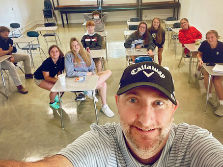 Local Pastor Inspires Students During FCA Meeting.