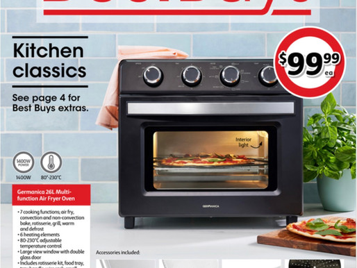 Germanica makes front page with latest Air Fryer at Coles