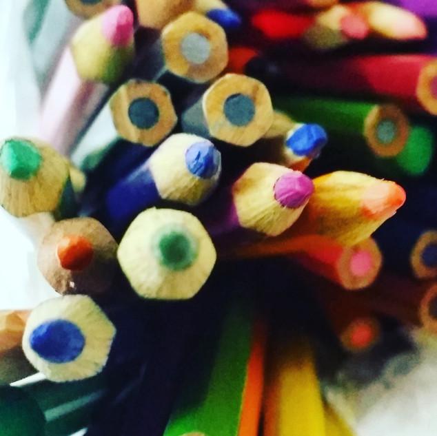 Art Materials Watercolors pencils Ana Mendina