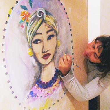 porta carmem Miranda por Ana Mendina