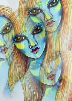 A menina azul ART PRINT
