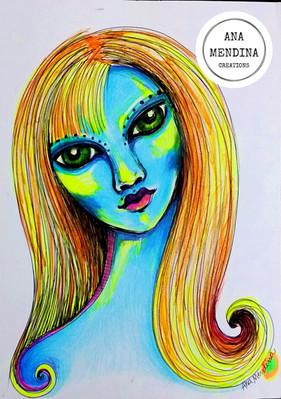A menina azul