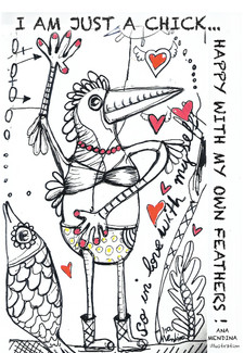 Happy chick illustration