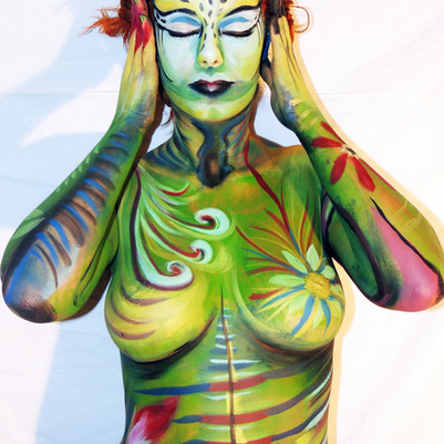 body paint by Ana Mendina