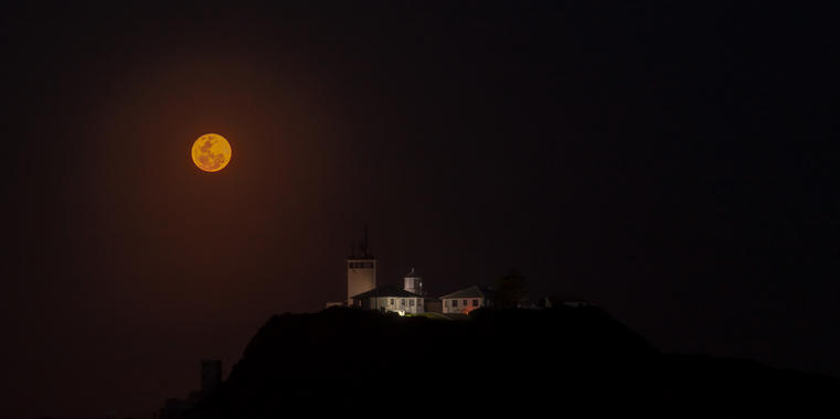 Full Moon Nobbys Lighthouse