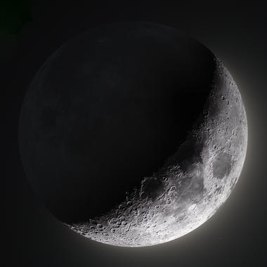 27% Waxing Crescent Moon