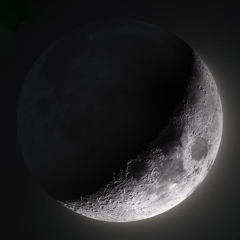 27% Waxing Crescent Moon