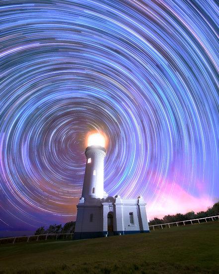 Norah Head Lighthouse Star trails