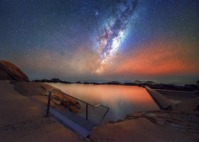 Swimming under the stars