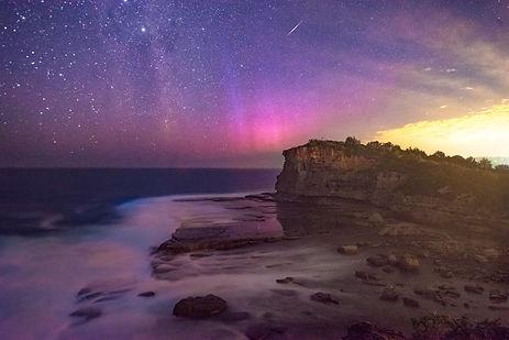 Terrigal Aurora and Iridium Flare-X3.jpg