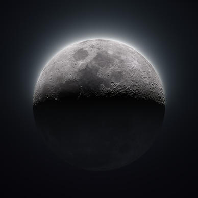 43% Waxing Crescent Moon