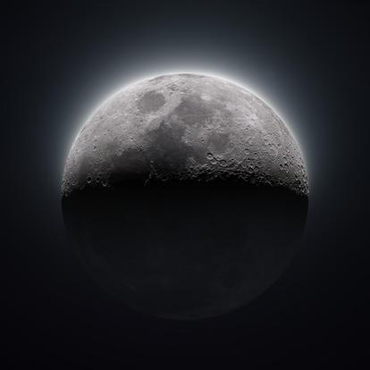 43% Waxing Crescent Moon