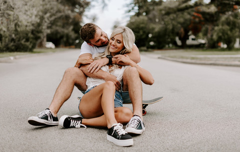 Skate brand photoshoot with couple Cottelsoe perth