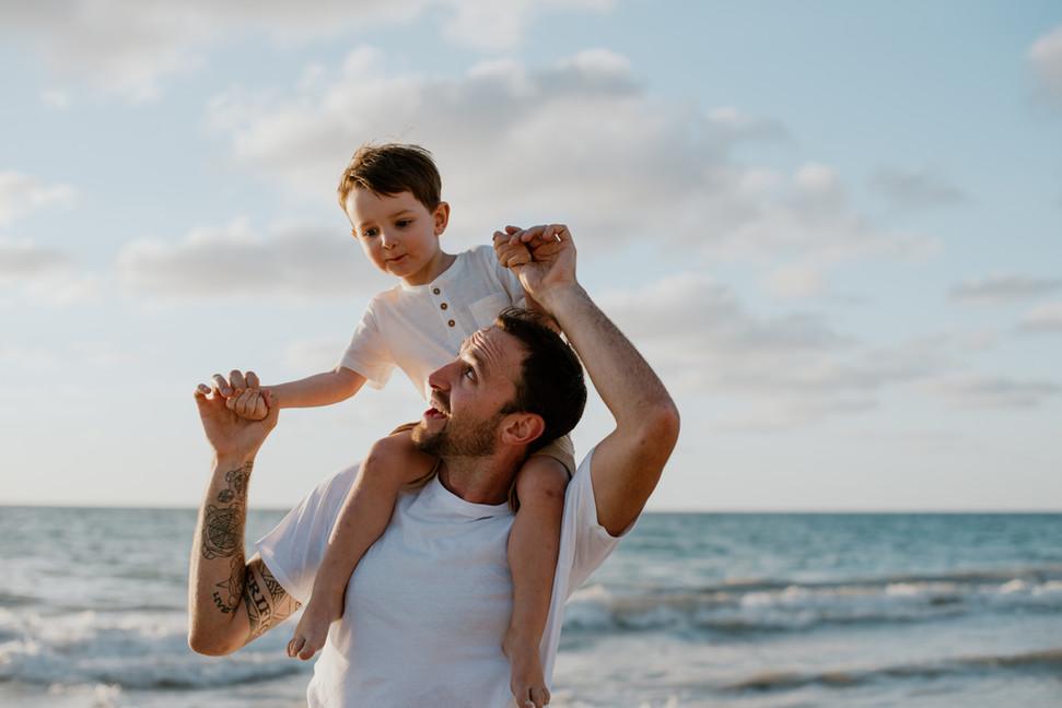 Sunset beach maternity shoot