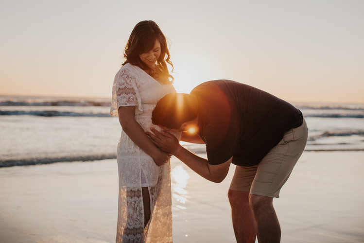 Maternity Sunset session at Burns Beach Perth