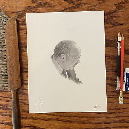 Original drawing of Paul Giamatti for GUNPOWDER MILKSHAKE