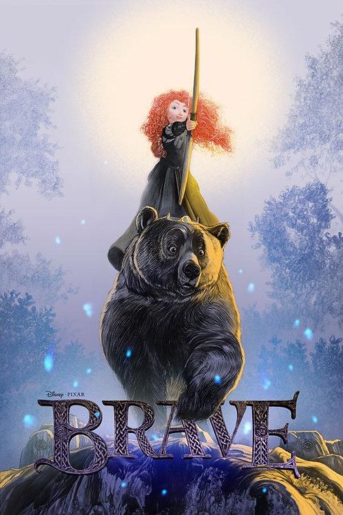 Mondo/Pixar's BRAVE AP variant screenprint