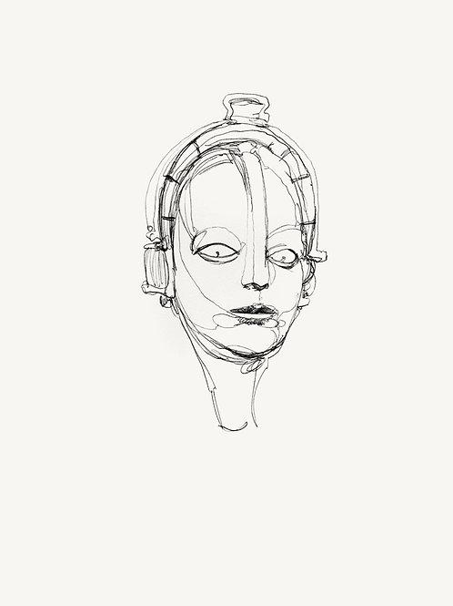 "METROPOLIS Original ""Maschinenmensch"" recursive drawing #1"