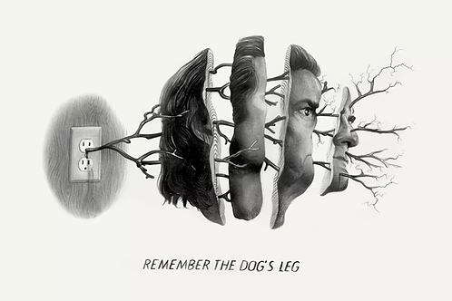 "TWIN PEAKS single  ""REMEMBER THE DOG'S LEG"" giclee SAP EDITION"