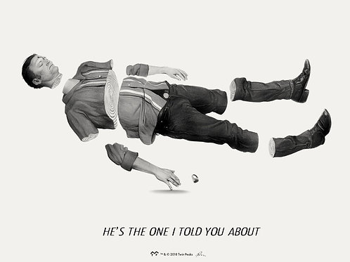 """TWIN PEAKS single  """"HE'S THE ONE I TOLD YOU ABOUT"""" giclee SAP EDITION"""