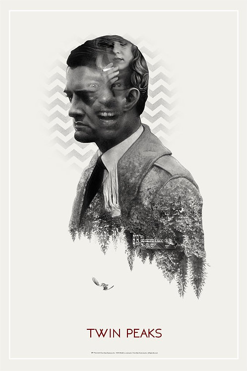 TWIN PEAKS primary AP screenprint