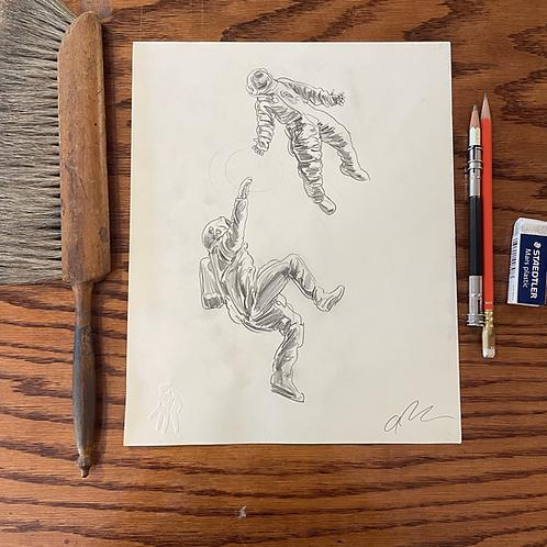 Original Ad Astra pencil sketch