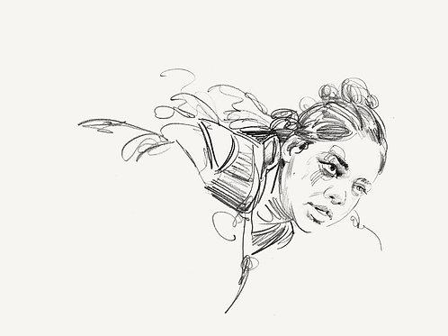 "VALKYRIE pvt commission study: ""Valkyrie pencil sketch!"""
