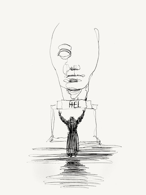 "METROPOLIS Original ""PRAYER"" recursive drawing #1"