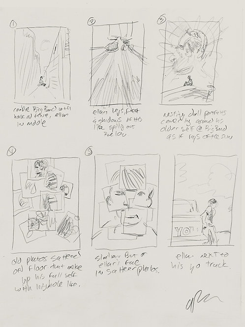 Original concept sketches & notes  for BOYHOOD