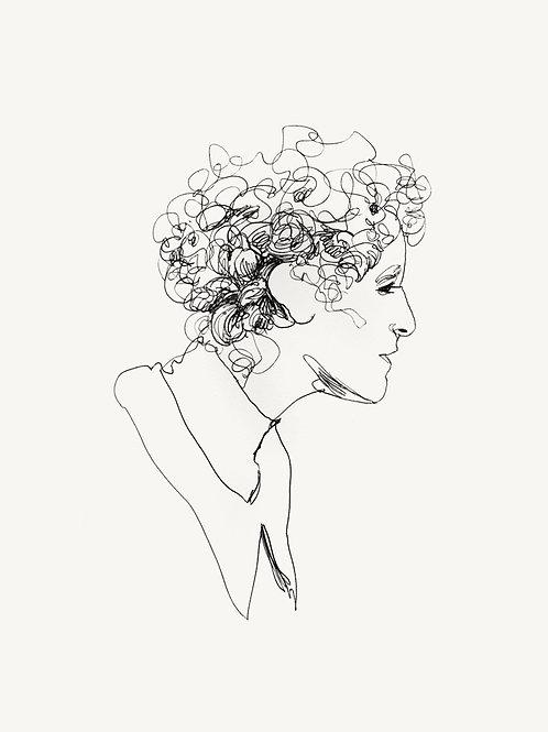 """METROPOLIS Original """"MARIA"""" recursive drawing #3"""