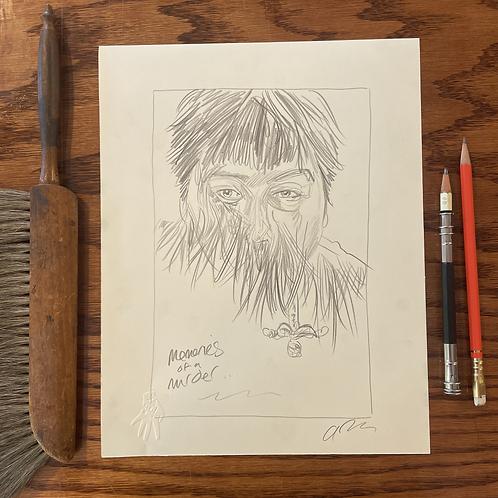 Original sketch for Bong Joon Ho's MEMORIES OF MURDER