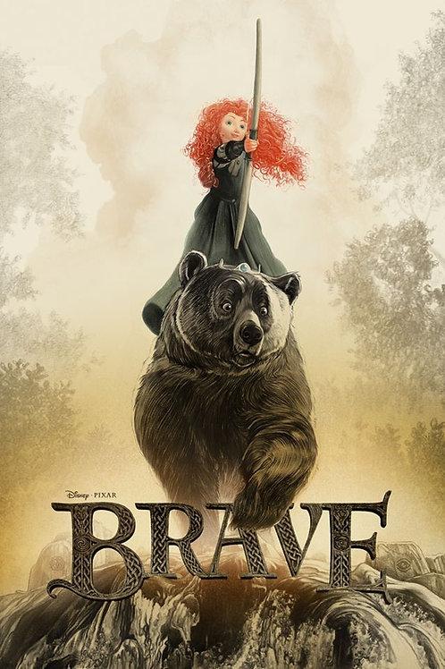 Mondo/Pixar's BRAVE AP primary screen print