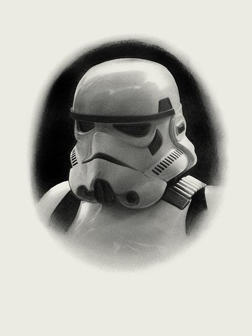 "ROGUE ! Pvt og commission series ""Storm Trooper"" original graphite study"