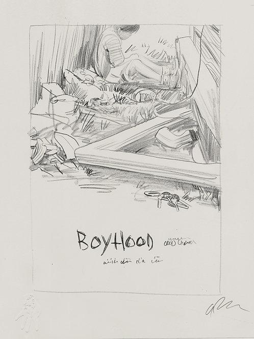 Original final sketch drawing for BOYHOOD poster