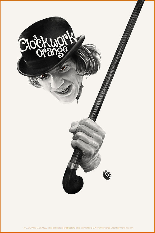 Mondo's A CLOCKWORK ORANGE AP screenprint (primary)
