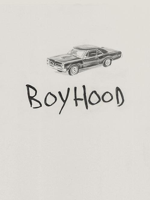 Original logo drawing and car sketch for BOYHOOD